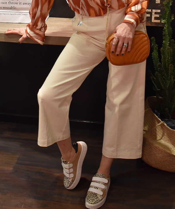 Pantalon taille haute Grace & Mila
